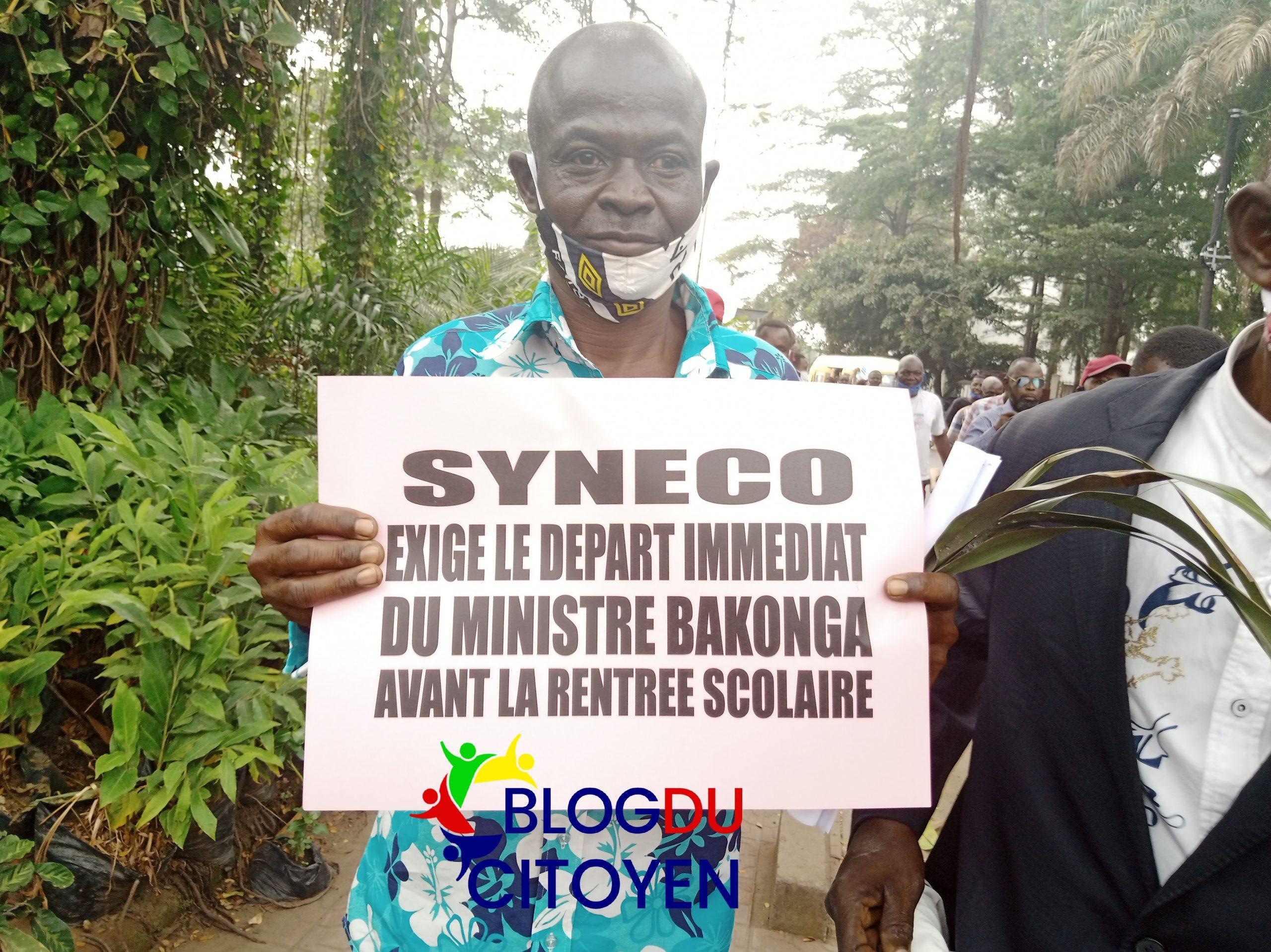 RDC : En sit-in devant le ministère de l'EPST, les enseignants exigent la démission de Willy Bakonga