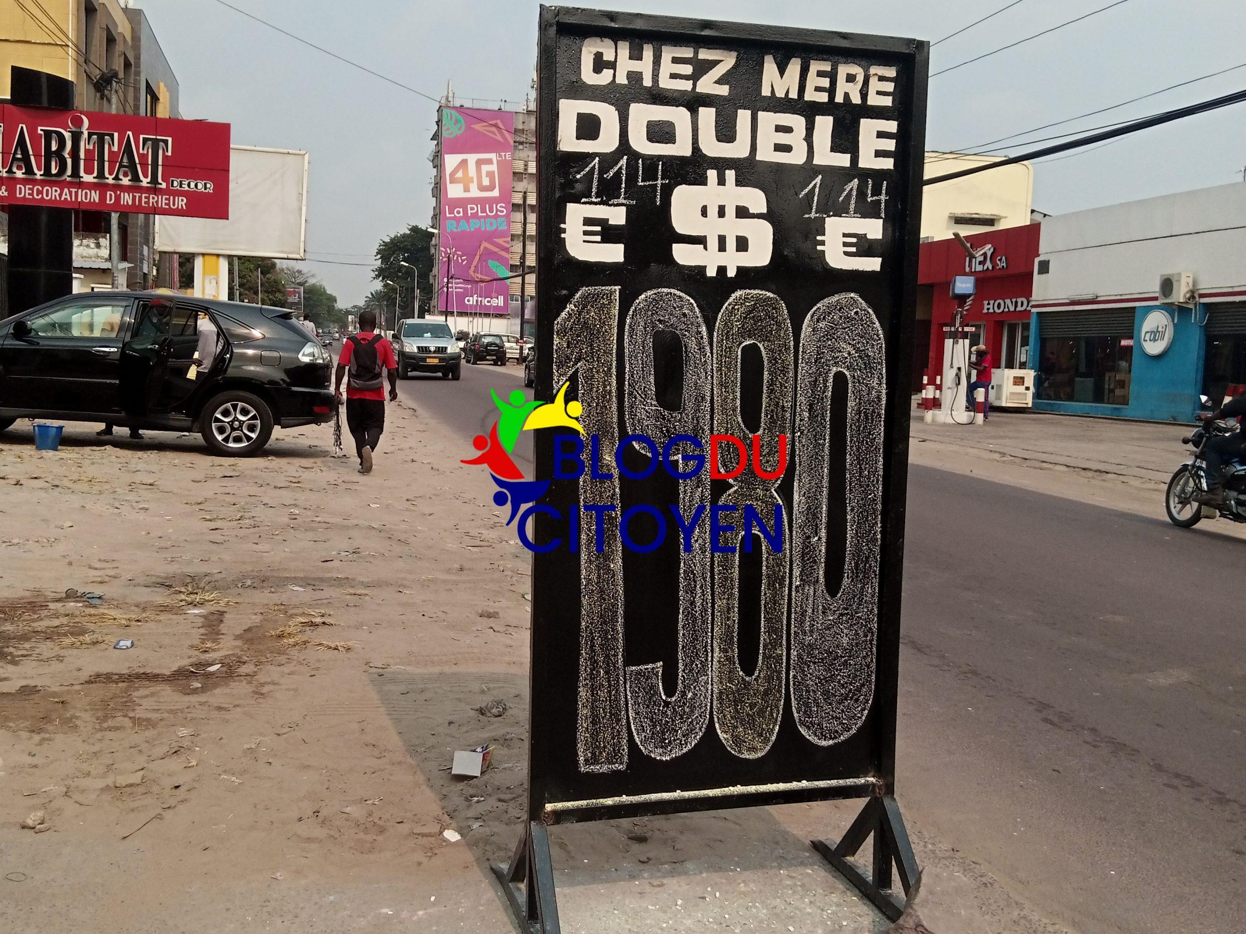 Kinshasa : La situation du taux sur le marché de change